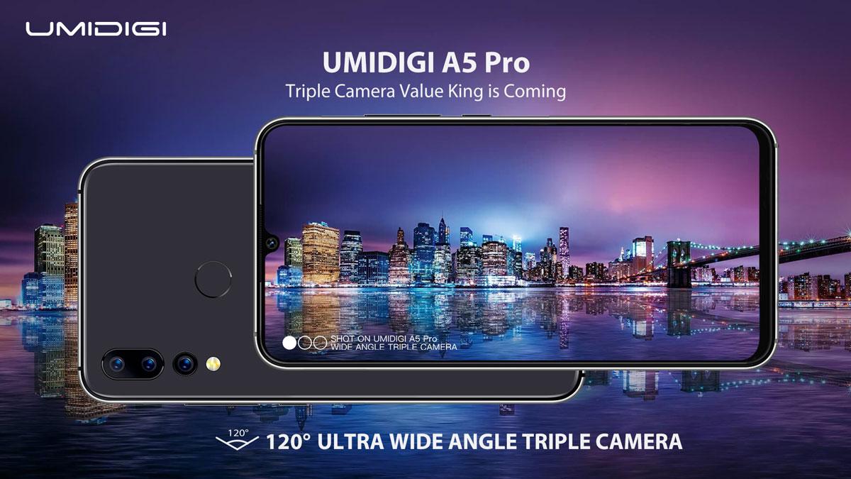 UMIDIGI A5 Pro – Бюджетный смартфон с тройной камерой