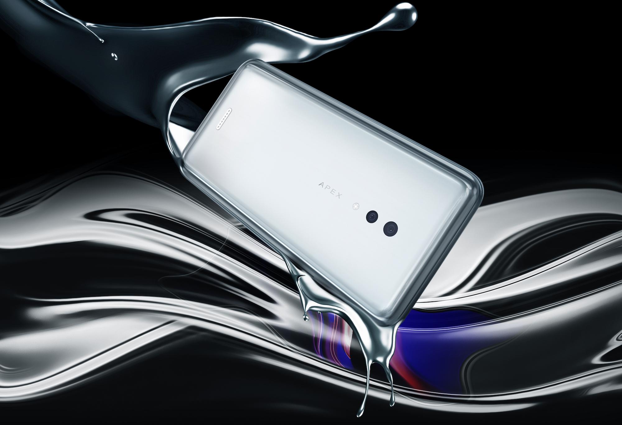 Vivo APEX 2019 – Безрамочный смартфон в виде обмылка без кнопок и разъёмов