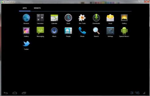 WindowsAndroid - программа для запуска Android в среде Windows